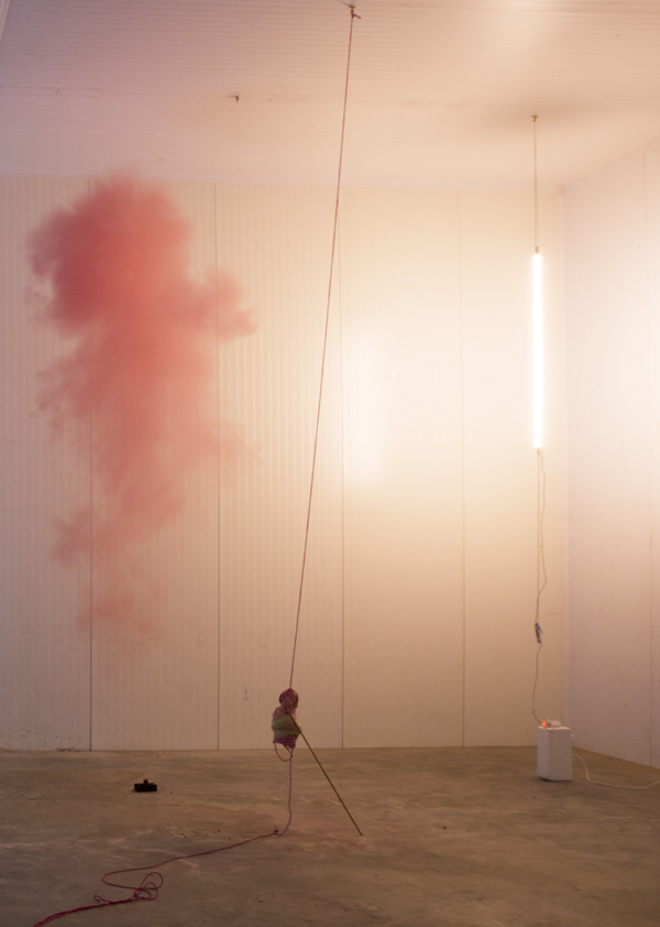 Jo McGonigal, Hung [Detail, Unmaking Painting #1] (2014)